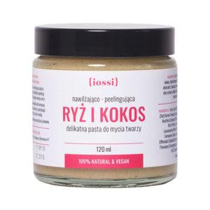 iossi, delikatna pasta do mycia twarzy – ryż i kokos 120ml