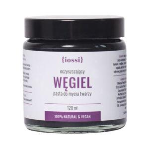 iossi, oczyszczająca pasta do mycia twarzy Węgiel 120ml