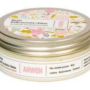 Anwen, Maska do Włosów Wyskoporowatych, Kiełki Pszenicy i Kakao 200ml