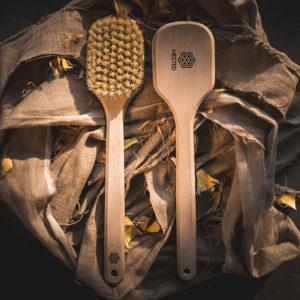 Nested, szczotka do ciała z tampico – długa