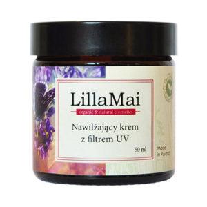 Lilla Mai, nawilżający krem do twarzy z filtrem UV  50ml