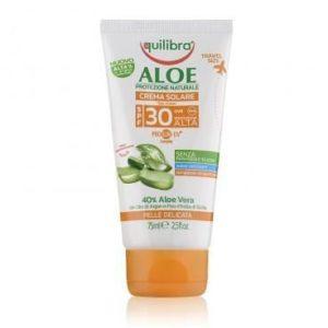 Equilibra, aloesowy krem przeciwsłoneczny do ciała  SPF 30      75 ml