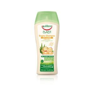 Equilibra, łagodny szampon aloesowy do włosów i ciała dla dzieci od 0m+  250 ml