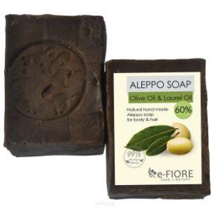 e-Fiore, mydło Aleppo 60% z olejem laurowym – cera tłusta i trądzikowa 200g