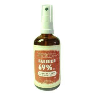 Polny Warkocz, spray dezynfekujący Kaliber 69% – ochronny płyn do higieny skóry 100ml