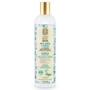 Natura Siberica (Super Siberica Professional), szampon do włosów przetłuszczających się z brzozą i miętą 400ml