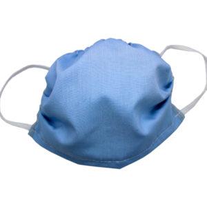 Wielorazowa dwuwarstwowa maseczka ochronnna, 100% bawełny – niebieska