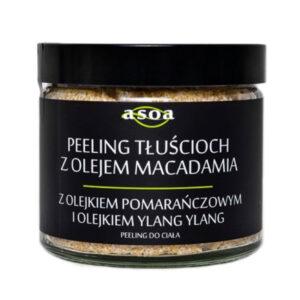 Asoa, Peeling Tłuścioch – z olejkiem macadamia, pomarańczowym i ylang ylang 200ml