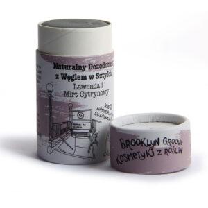 Brooklyn Groove, naturalny dezodorant w sztyfcie z węglem – Lawenda i Mirt Cytrynowy 60ml