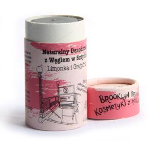 Brooklyn Groove, naturalny dezodorant w sztyfcie z węglem – Limonka i Grejpfrut 60ml