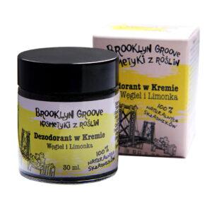 Brooklyn Groove, naturalny dezodorant w kremie – Limonka i Węgiel 30ml