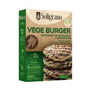 Soligrano, Vege Burger orkiszowy ze szpiankiem i ciecierzycą 140 g