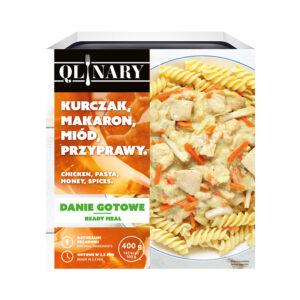 Qlinary, kurczak z makaronem w sosie z miodem i przyprawami 400 g