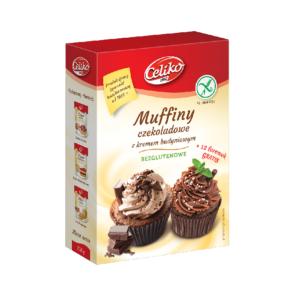 Celiko, muffiny czekoladowe z kremem budyniowym 310 g
