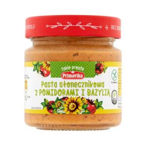 Primavika, pasta słonecznikowa z pomidorami i bazylią 160 g