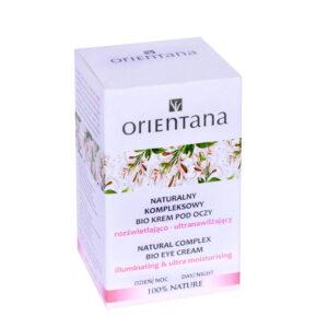 Orientana, naturalny kompleksowy BIO KREM POD OCZY rozświetlająco – ultranawilżający 15ml