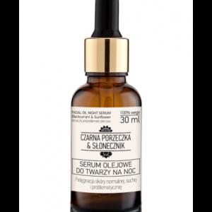 Czarna Porzeczka & Słonecznik, serum olejowe do twarzy na noc (cera normalna/sucha) 30ml