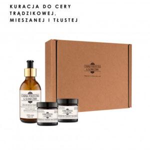 """Czarna Porzeczka & Słonecznik, zestaw prezentowy """"Kuracja do cery trądzikowej, mieszanej i tłustej"""""""