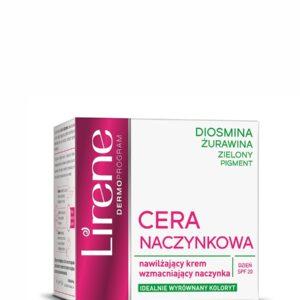 Lirene, Cera Naczynkowa – nawilżający krem wzmacniający naczynka SPF20  50ml