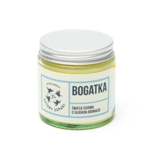 Mydlarnia Cztery Szpaki, naturalna świeca sojowa – Bogatka (kwiatowa) 100g