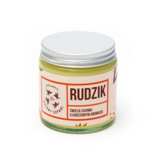 Mydlarnia Cztery Szpaki, naturalna świeca sojowa – Rudzik (korzenna) 100g